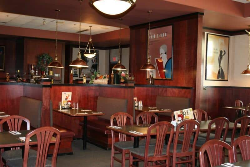 Green Mill Restaurant booths and tables